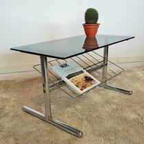 Table basse chrome années 70