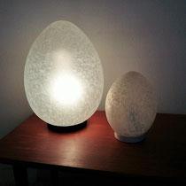 Lampes œuf vintage