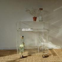 meuble vinyle plexiglas vintage david lange