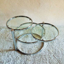 Table basse chrome / verre vintage