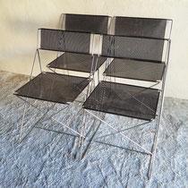 Série de 4 chaises scandinave Xline Jørgen Haugesen