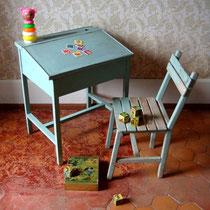 ensemble bureau pupitre enfant vintage