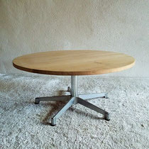 Table basse circulaire vintage dlg Eames / Knoll ou Piretti