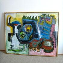 Grande peinture sur toile dlg Jean Michel Basquiat