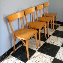 Chaises bistrot vintage dlg Baumann