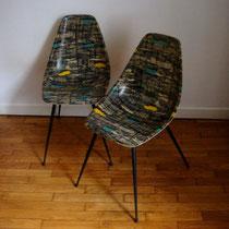 chaises coques dlg DSX Eames années 50