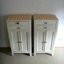paire de meubles de rangement vintage