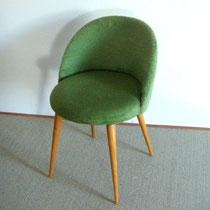 chaise moumoute vert vintage