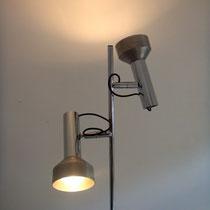 lampadaire vintage chrome et aluminium brossé
