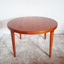 Table ronde teck scandinave