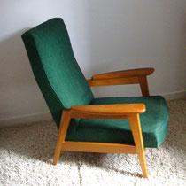 Grand fauteuil vert  vintage