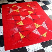 Grand tapis laine vintage