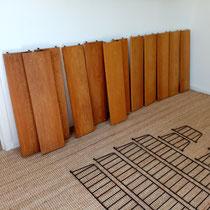 étagère murale string bois vintage