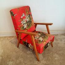 Grand fauteuil chêne vintage