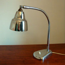 lampe de bureau flexible chrome vintage