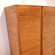 armoire rotin vintage