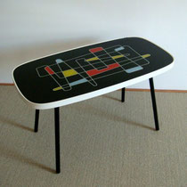 Table basse vintage à motif