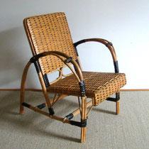 fauteuil enfant rotin années 50