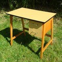 petit bureau hêtre et formica compa vintage