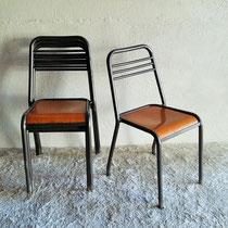 Lot 50 chaises métalliques industrielles vintage