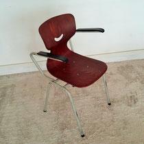 Chaise de bureau à accoudoirs vintage