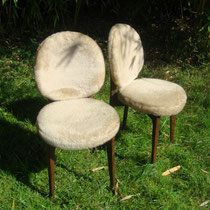 chaises moumoutes beige