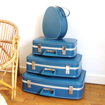 Set de valises gigognes vintage