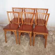Suite de 6 chaises Baumann vintage