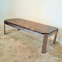 Table basse marbre et chrome années 70