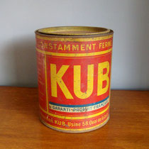 boîte métal ronde KUB