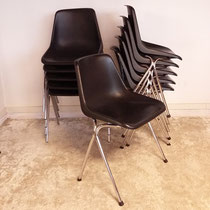 Suite de 11 chaises vintage copies polypro Robin Day