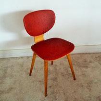Chaise hêtre compas vintage