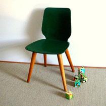 petite chaise maternelle bois et pieds compas vintage