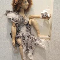 ВалФея с любимой мышью.Текстильная шарнирка. 3 место в совместном пошиве.Собственность автора