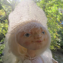 Интерьерная кукла под елку. Снегурочка.