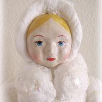 Снегурочка. Мои авторские игрушки из ватного папье-маше.