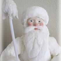 Дед Мороз . Мои авторские игрушки из ватного папье-маше.