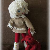 Куколка по мотивам мультика ,,Варежка,, со всоею собачкой