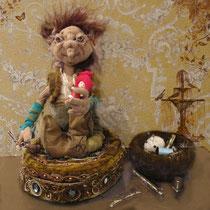 Чудельфик кукольник на рабочем месте