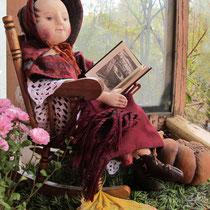 Изванна. Текстильная кукла в антикварном стиле. Туловище, роспись личика, все наряды авторский вариант антикварных выкроек и стиля.