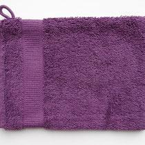 Washandje in 100% bio-katoen 580 g/m², 16 x 21 cm, violet, Cotonea