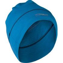 Muts in 70% bio-merinowol, 28% zijde en 2% elastaan, helderblauw, Engel Sports