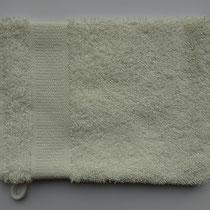 Washandje in 100% bio-katoen 580 g/m², 16 x 21 cm, wit, Cotonea