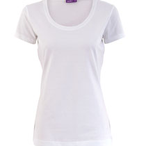 Basis T-shirt met ronde hals in 100% bio-katoen jersey, wit, Living Crafts, beschikbaar in de maten XS, S, M, L en XL, prijs: 16,99 €