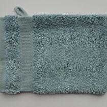 Washandje in 100% bio-katoen 580 g/m², 16 x 21 cm, lichtblauw, Cotonea