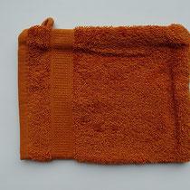 Washandje in 100% bio-katoen 580 g/m², 16 x 21 cm, terracotta rood, Cotonea