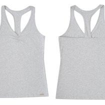 Sporttopje voor dames in bio-katoen met 8% elastaan tricot, Comazo Earth