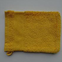 Washandje in 100% bio-katoen 580 g/m², 16 x 21 cm, honinggeel, Cotonea