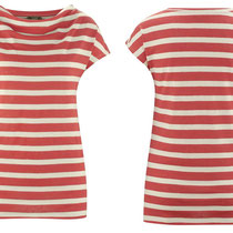 T-shirt Gilka in 61% bio-linnen en 39% bio-katoen jersey, grenadine/zand gestreept, Living Crafts, beschikbaar in de maten XS, S, M, L en XL, prijs: 39,99 €