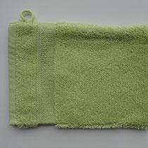 Washandje in 100% bio-katoen 580 g/m², 16 x 21 cm, meigroen, Cotonea